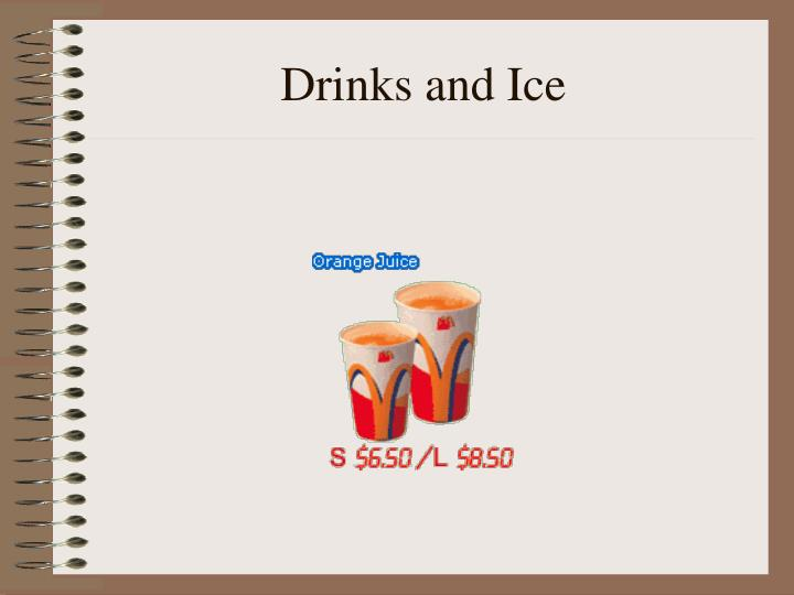 Drinks and Ice