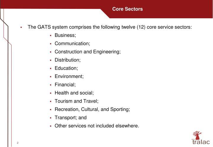 Core Sectors