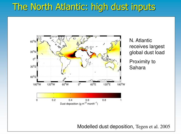 The North Atlantic: high dust inputs