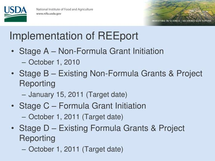 Implementation of REEport