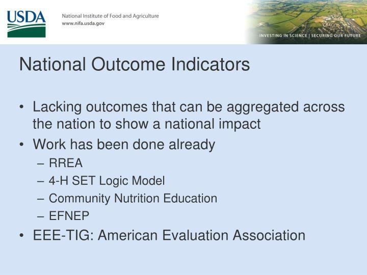 National Outcome Indicators