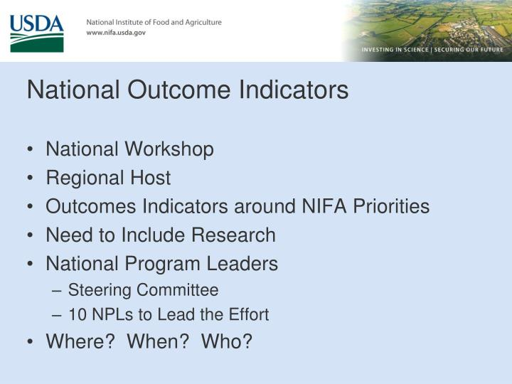 National Outcome Indicators