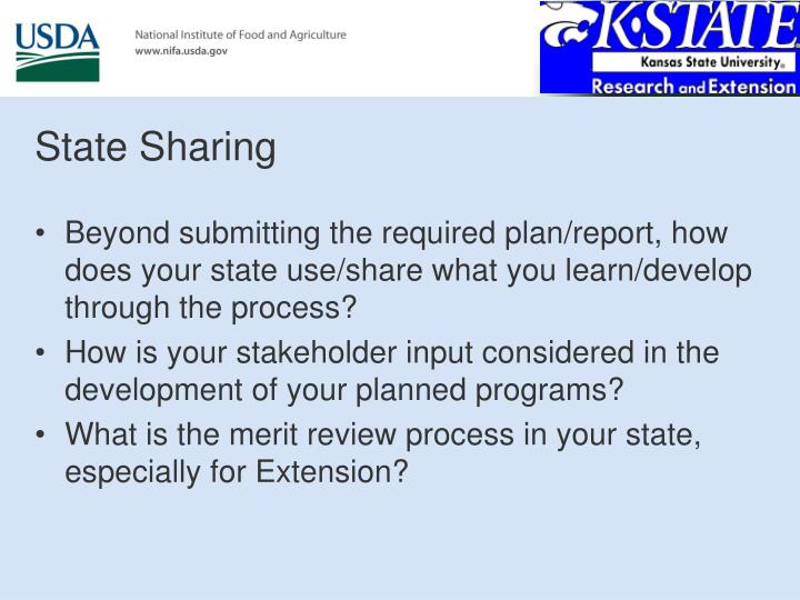 State Sharing
