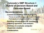 colorado s smp structure hybrid of decision based and outcome based