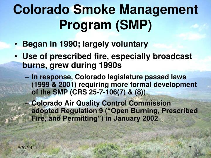 Colorado Smoke Management Program (SMP)