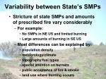 variability between state s smps