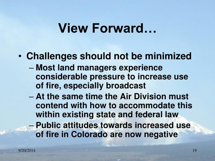View Forward…