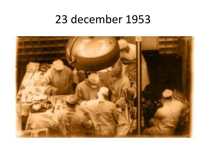 23 december 1953