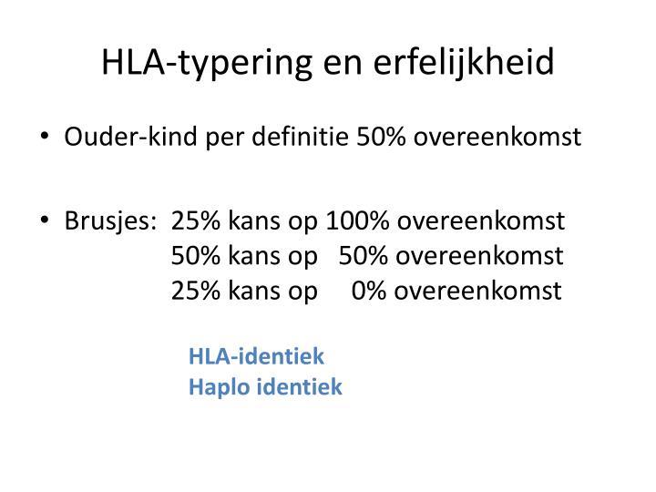 HLA-typering en erfelijkheid