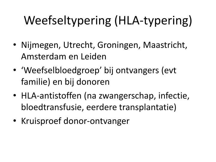 Weefseltypering (HLA-typering)