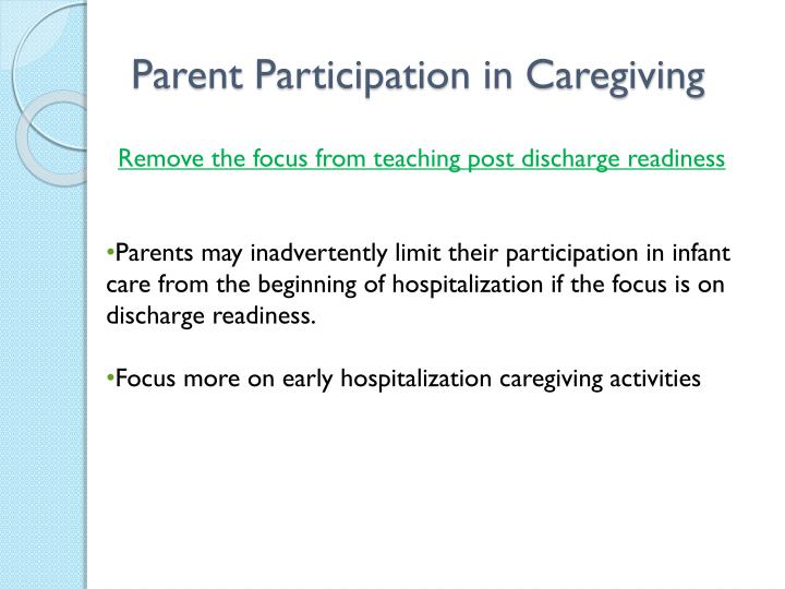 Parent Participation in Caregiving