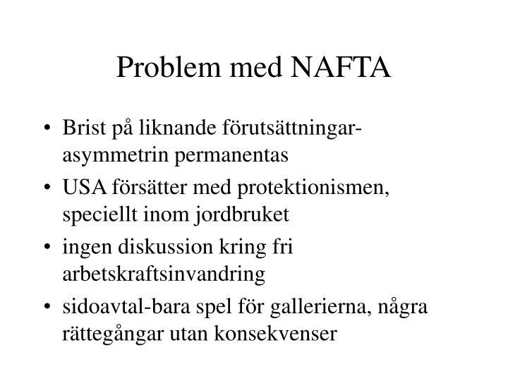 Problem med NAFTA