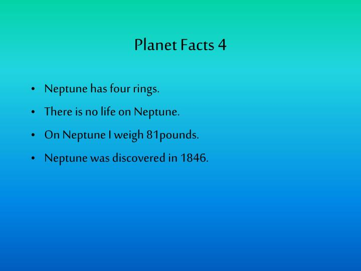 Planet Facts 4