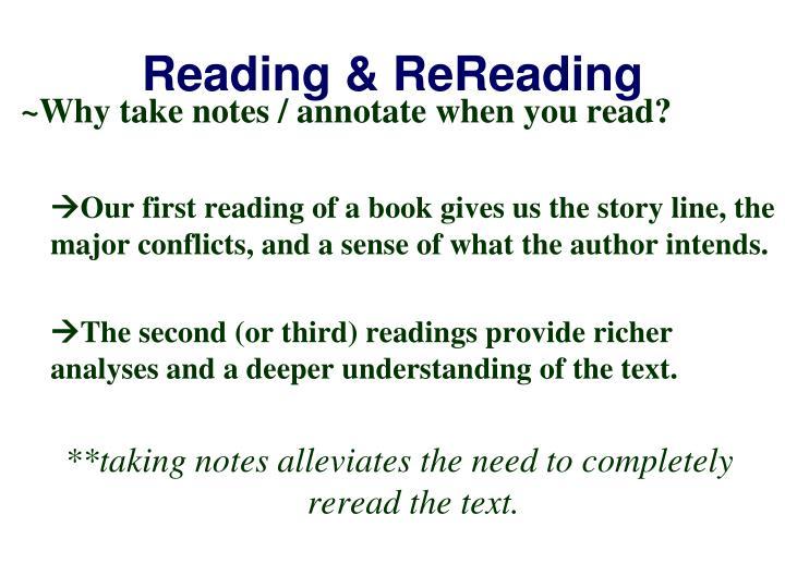 Reading & ReReading