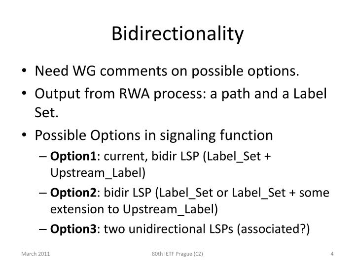 Bidirectionality