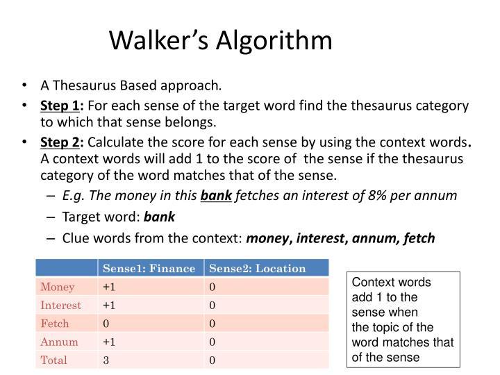 Walker's Algorithm
