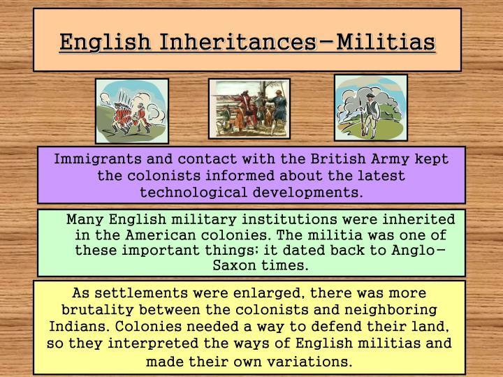 English Inheritances-Militias