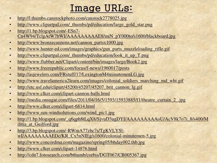 Image URLs: