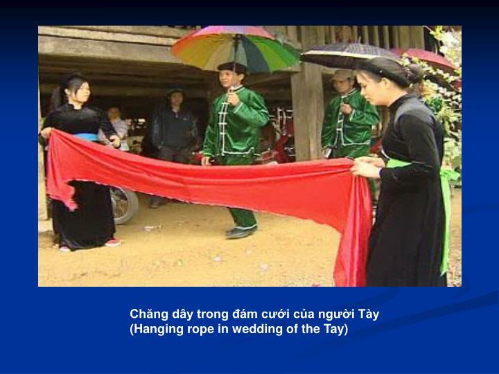 Chăng dây trong đám cưới của người Tày