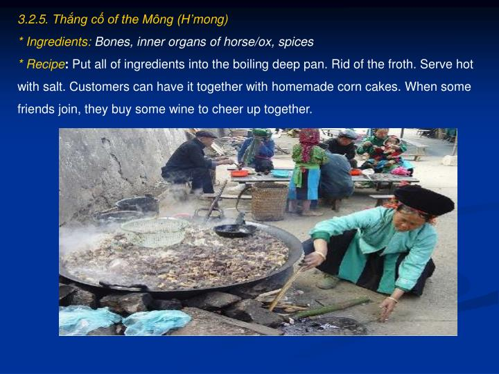 3.2.5. Thắng cố of the Mông (H'mong)