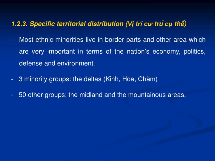 1.2.3. Specific territorial distribution (Vị trí
