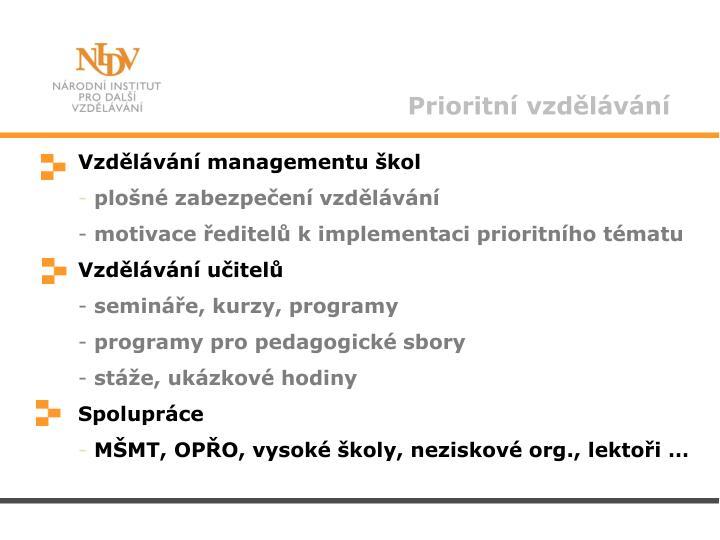 Prioritní vzdělávání