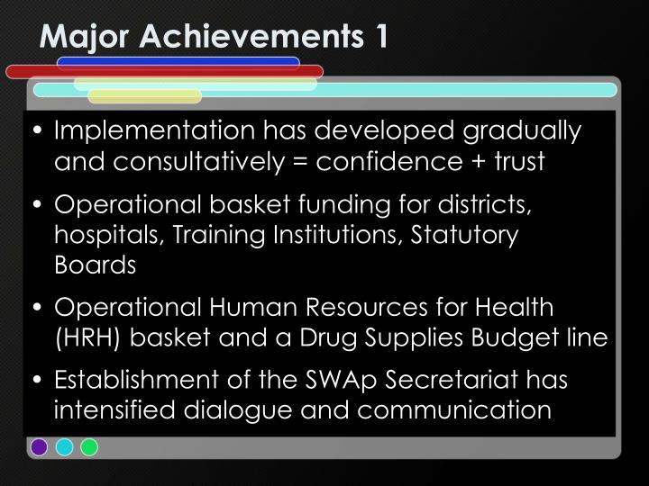 Major Achievements 1