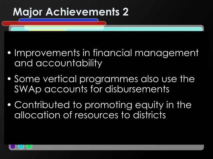 Major Achievements 2