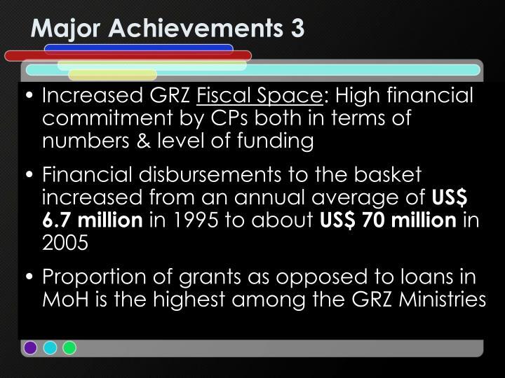 Major Achievements 3