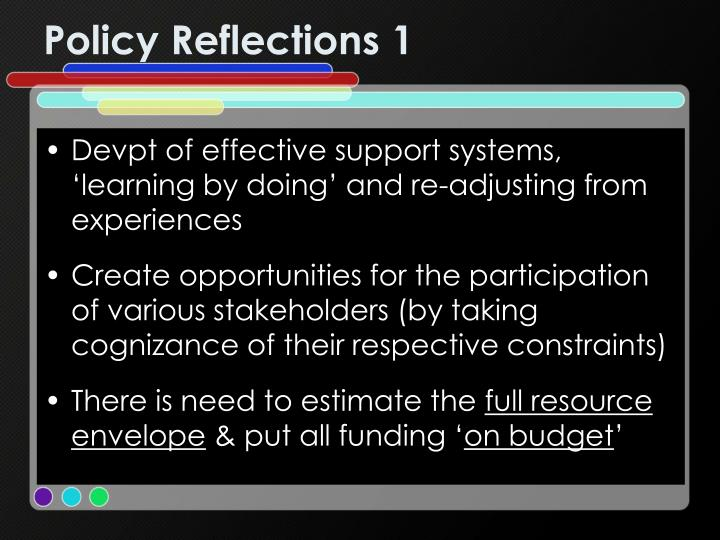 Policy Reflections 1