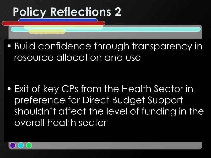 Policy Reflections 2