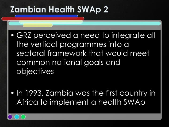 Zambian Health SWAp 2