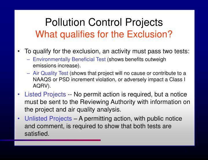 Pollution Control Projects