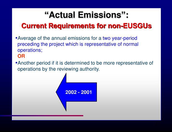 """""""Actual Emissions"""":"""