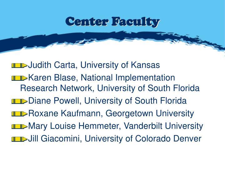 Center Faculty