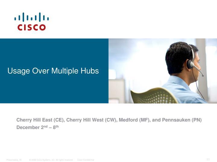 Usage Over Multiple Hubs