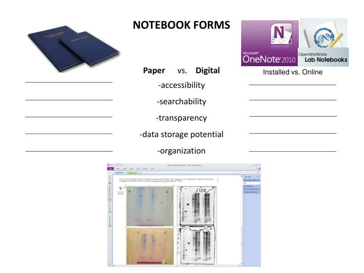 NOTEBOOK FORMS