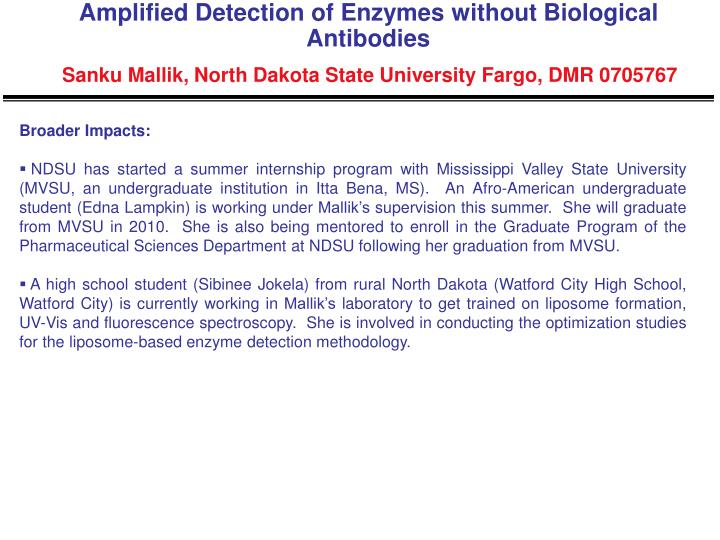 Amplified Detection of Enzymes without Biological Antibodies