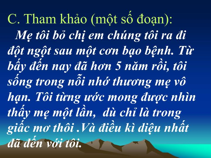 C. Tham kho (mt s on):