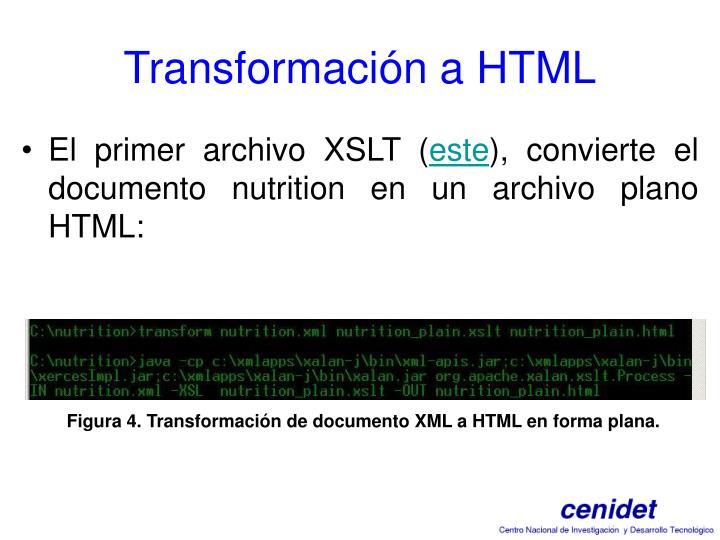 Transformación a HTML