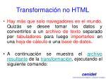 transformaci n no html