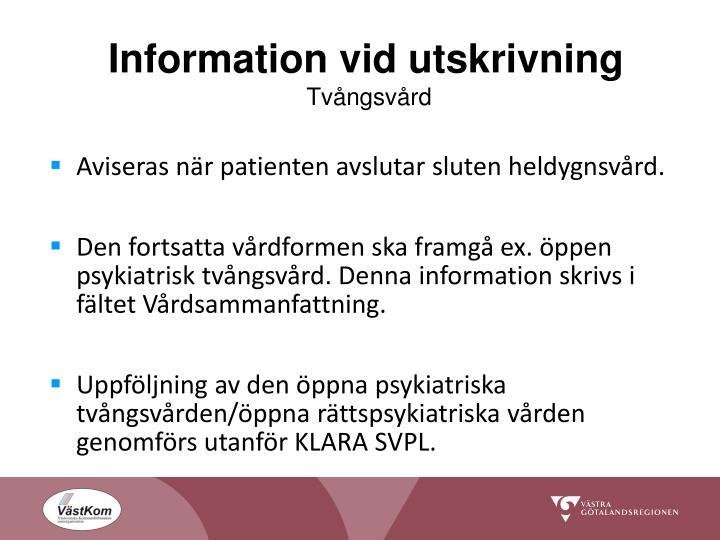 Information vid utskrivning
