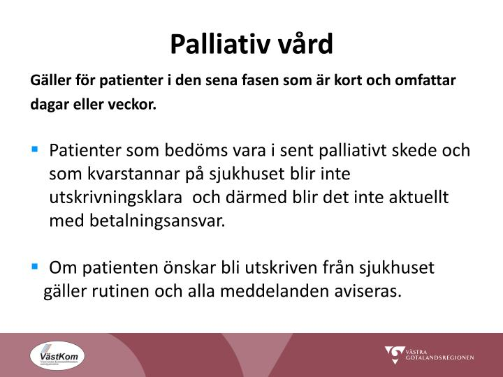 Palliativ vård
