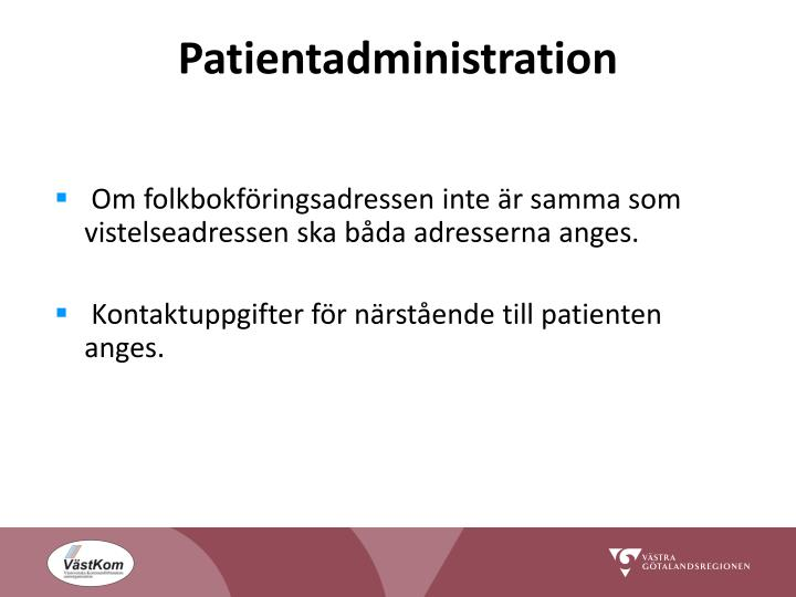 Patientadministration