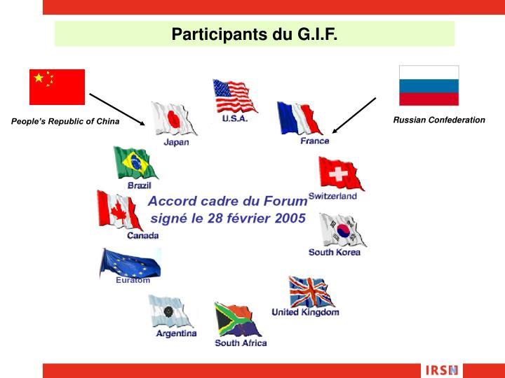 Participants du G.I.F.