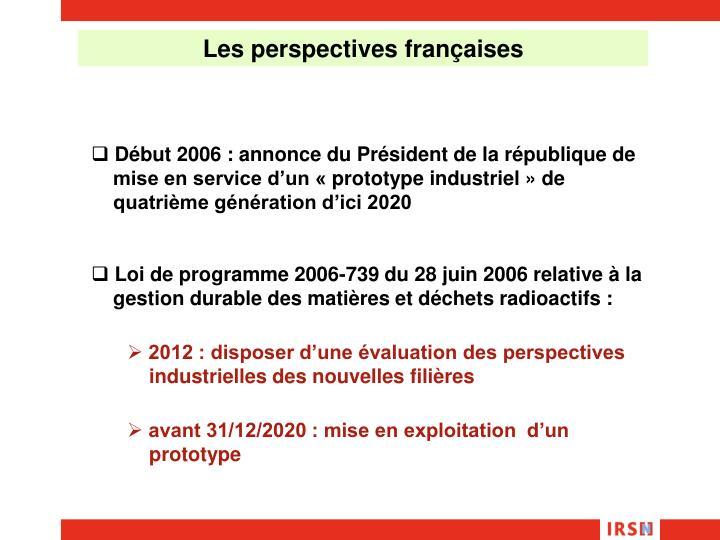 Les perspectives françaises