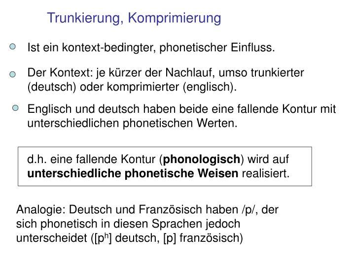 Ist ein kontext-bedingter, phonetischer Einfluss.
