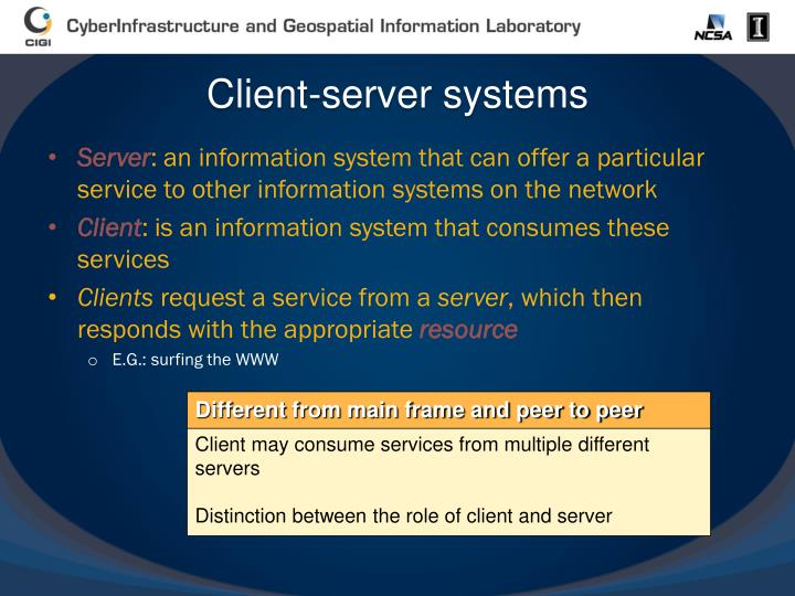 Client-server systems