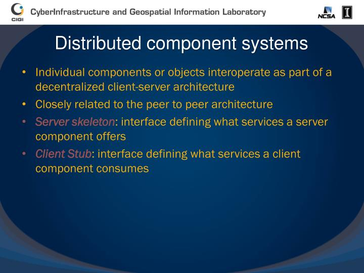 Distributed component systems