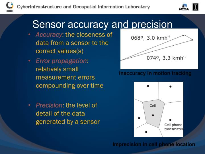 Sensor accuracy and precision